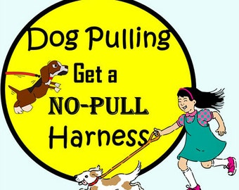 Dog Harness - No Pull Dog Harness - Available in all Dog Collar Listings - Fabric name is in the title