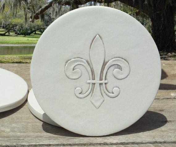 Fleur De Lis Drink Coasters Coasters Beach House Hostess
