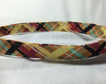 Plaid Adjustable Pet Collar