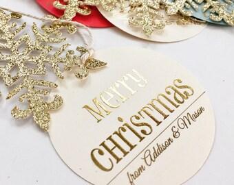 Christmas Gift Tags, Personalized Christmas Gift Tags, Christmas Tags, Personalized Christmas Tags, Custom Christmas Tags, Snowflake Tag
