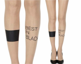 Tattoo Tights|Text Print on Tights|Bracelet Print Tights|Fashion Tights by Zohara|Sheer Skin Tights|Best In Class|20F350|Free Shipping