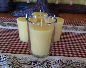 Beeswax votive candles 100 percent pure natural votives