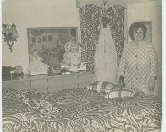 Vintage Snapshot Photo: Patterns, c1960s (610512)