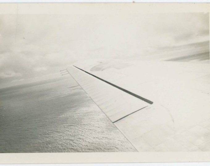 Airplane Wing: Abstract Vintage Snapshot Photo (66479)