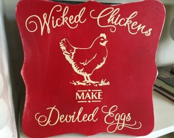 Wicked chickens make deviled eggs