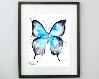 Animal Watercolor Painting, Animal Art Print, Butterfly Art, Butterfly Artwork, Butterfly Watercolor, Butterfly Wall Art, Butterfly Print