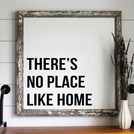 There's No Place Like Home Reclaimed Wood Sign, Housewarming Gift, Country Decor, Farmhouse Decor