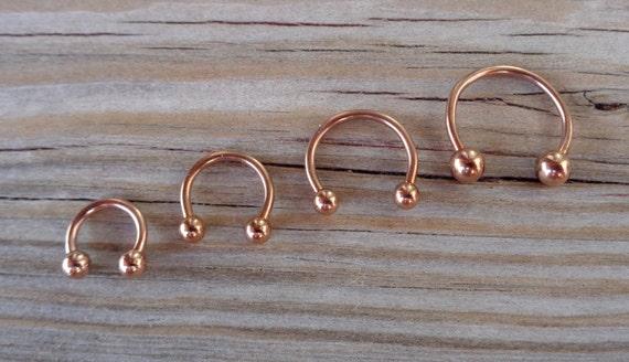 Rose Gold Horseshoe Circular Barbell - 49.3KB