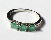 SALE 20% OFF Emerald Eternity Ring in Platinum Handmade Jewellery NorthCoastCottage Jewelry Design
