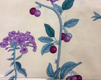 """Schumacher """"Blossoms and cherries"""" fabric"""