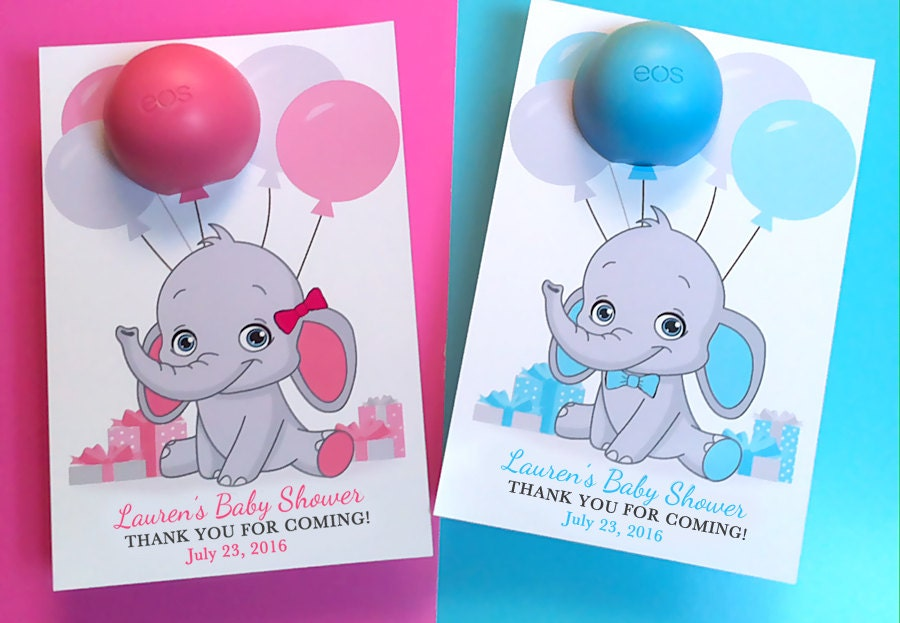 Eos Baby Shower Elephant Favors lip balm Elephant Baby