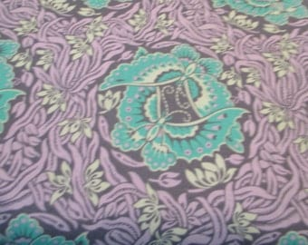 Quilting Weight Cotton Fabric Violette Take Flight Zinc