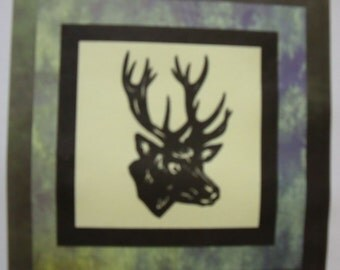 WILDLIFE SERIES - Deer Quilt KIT with Pre-cut Laser Fabric Applique silhouettes