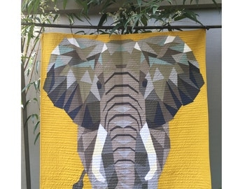 The Elephant Abstractions Quilt by Violet Craft - DIY quilt pattern