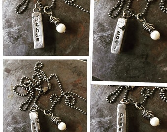 This Too Shall Pass necklace (sterling)