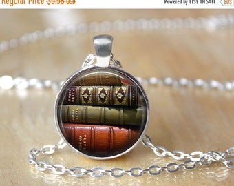 Book Necklace - Library Necklace - Book Lover Necklace - Librarian Necklace - Literary Jewelry - Custom Necklaces - Book Lover Jewelry 41