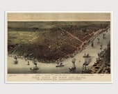 Old New Orleans Map Art Print 1885 Antique Map Archival Reproduction