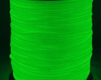 100 ft hank of GLOW in the DARK 550 Paracord by Atwood Rope