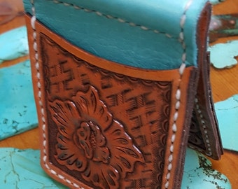 Hand Tooled Money Clip/Card Case