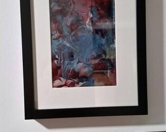 Patriot- resin abstract art