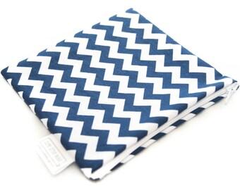 Snack Bag - Sandwich Bag - Reusable - Quart Gallon - Zippered or Snap - Waterproof - Napkin - Pad Wrapper - Party Favor - Navy Blue Chevron