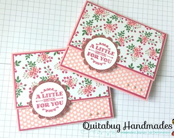 Stampin' Up! Wedding Giftcard Holder/Anniversary Giftcard Holder/Any Occasion Card- A Little Something
