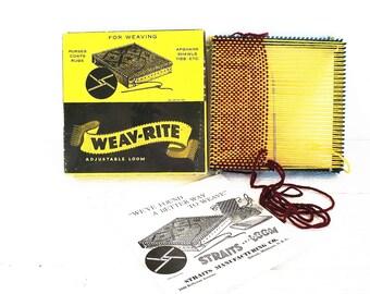Vintage Loom Straits Weav-Rite Hand Weaving Adjustable Loom
