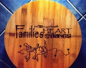 Families Pyrography Chopping Board