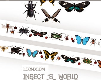 1 Roll of Limited Edition Washi Tape: Insects World