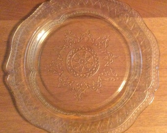 Amber Glass Serving Plate