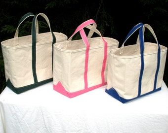 Canvas Boat and Tote Bag