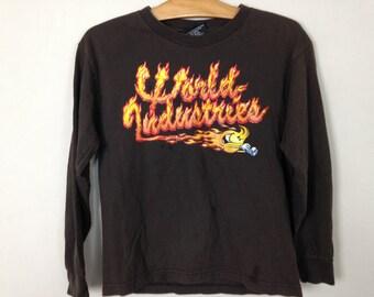90s world industries flame boy shirt size XS