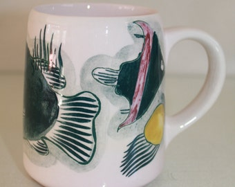 Grayfish mug by Arabia Finland
