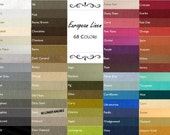 Custom Size Linen Tablecloth USA Made//68 Colors//Extra Large Linen Tablecloths