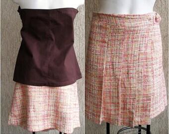 Vintage Mini Pleated Skirt, size M-L, ON SALE