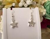 Star Earrings, Star Jewellery, Dangle Earrings, Pretty Earrings, Short, Silver Plated, Hook Earrings, Drop Earrings, Charm Earrings, Star,