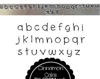 Cinnamon Cake Exclusive Design Lowercase Letter Metal Stamps Sets Steel Hand Punches Jewelry for blanks