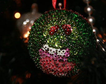 """Ghostbusters """"Slimer"""" Beaded Ornament"""