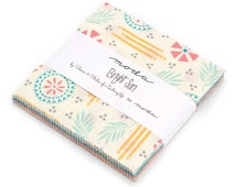 "Moda-Bright Sun by Sheri & Chelsi of a Quilting Life Charm Pack 42 5""x5 Pre Cut Squares"