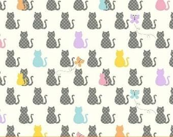 Windham Fabrics-Cat's Meow by Whistler Studio 40602-1 Mini Cat's in Multi