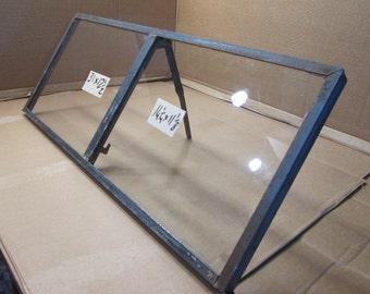 31 x 12-1/2 Vintage Metal Window sash  2 pane  from 1950s