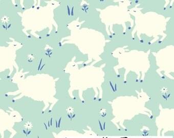 Little Lamb Mint knit - Birch Fabrics Homestead