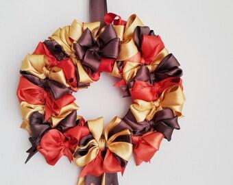 Fall Door Decor Wreath ,  Decor Wreath, Holiday Decor, Holiday Wreath, Thanksgiving Door Wreath, wall hanging,  indoor wall hanging