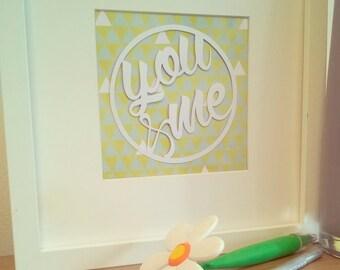 You & Me papercut