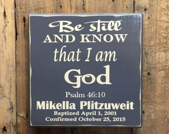 Confirmation Gift -  Baptism Gift - Graduation Gift - Personalized Bible Verse Wall Decor - Custom Wood Sign - CSS Design