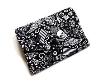 Coin purse wallet mini Tattoo skulls