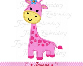 Instant Download Giraffe For Girls Applique Machine Embroidery Design NO:2211