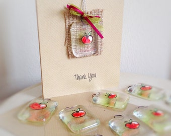 Thank you teacher Fused Glass tag