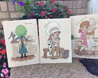 Little Girls Paint By Number Lot of 3