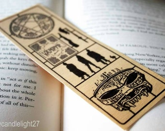 Wooden Bookmark, Buffy The Vampire Slayer, BTVS, Sunnyvale, Buffy Summers, Panel Art,